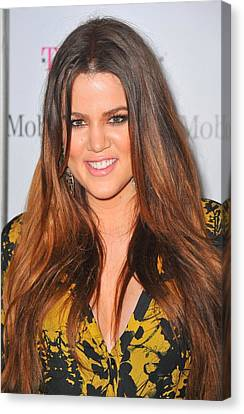 Khloe Kardashian At Arrivals Canvas Print by Everett