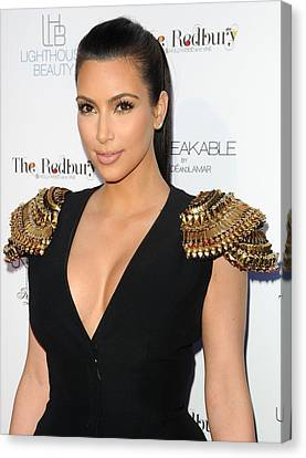 Kim Kardashian Wearing An Alexander Canvas Print by Everett