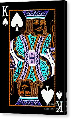 King Of Spades Canvas Print by Wingsdomain Art and Photography