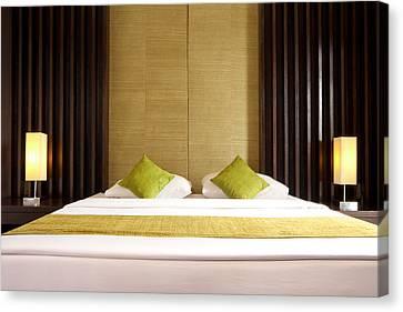 King Size Bed Canvas Print by Atiketta Sangasaeng
