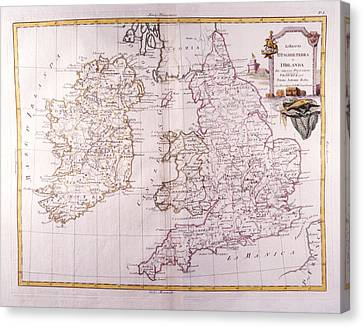 Kingdom Of England And Ireland Canvas Print by Fototeca Storica Nazionale