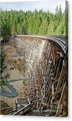 Kinsol Trestle Trans Canada Trail Vancouver Island Canvas Print by Andy Smy
