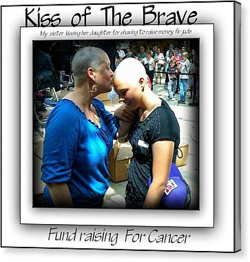 Kiss Of The Brave Canvas Print by Danielle  Parent