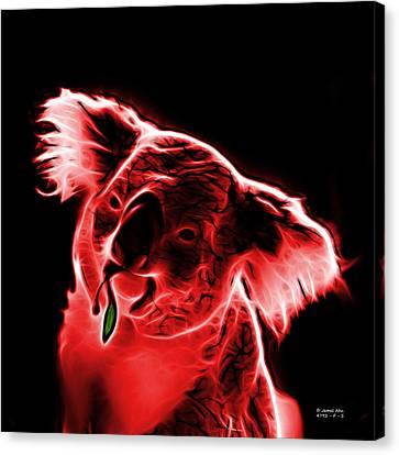 Koala Pop Art - Red Canvas Print by James Ahn