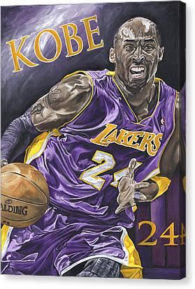 Kobe Bryant Canvas Print by David Courson
