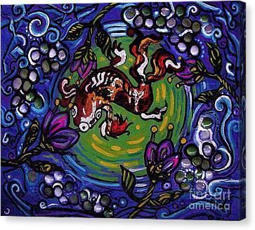 Koi Fish Canvas Print by Genevieve Esson