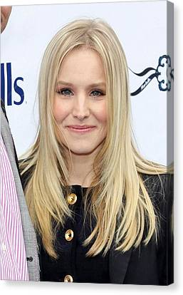 Kristen Bell At A Public Appearance Canvas Print by Everett