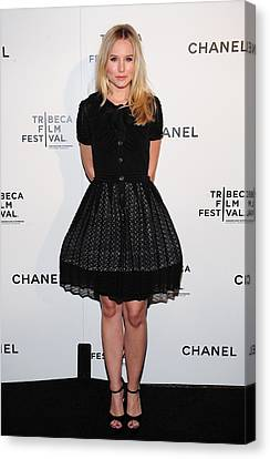 Kristen Bell At Arrivals For Chanel Canvas Print by Everett
