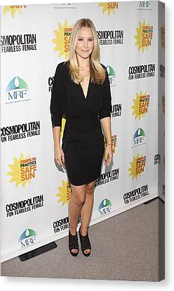 Kristen Bell At Arrivals For Cosmos Canvas Print by Everett