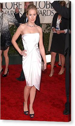 Kristen Bell Wearing A Jasmine Di Milo Canvas Print by Everett