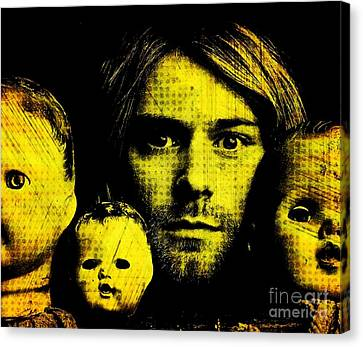 Kurt Cobain Canvas Print by Ankeeta Bansal
