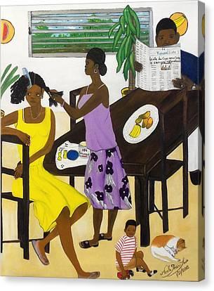 La Famille Canvas Print by Nicole Jean-Louis