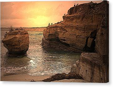 La Jolla Children's Cove Canvas Print by Richard Shelton