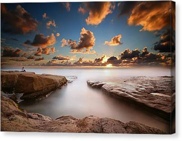 La Jolla Reef Sunset 4 Canvas Print by Larry Marshall