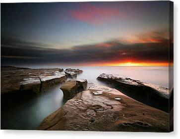 La Jolla Reef Sunset 7 Canvas Print by Larry Marshall