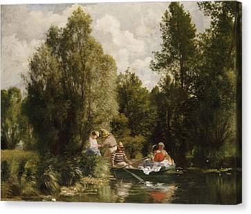 La Mare Aux Fees Canvas Print by Pierre Auguste Renoir