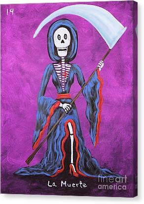 La Muerte Canvas Print by Sonia Flores Ruiz