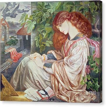 La Pia De Tolomei Canvas Print by Dante Charles Gabriel Rossetti