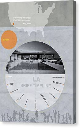 La Poster Canvas Print by Naxart Studio