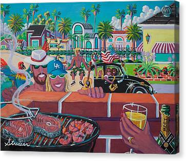 Labor Day Venice Style Canvas Print by Frank Strasser