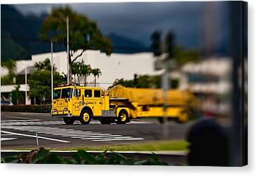 Ladder Truck Canvas Print by Dan McManus