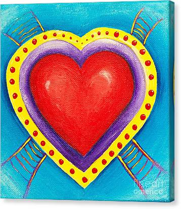 Ladders To Your Heart Canvas Print by Melle Varoy