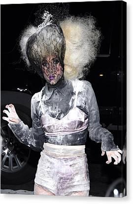 Lady Gaga Wearing A Marc Jacobs Bra Canvas Print by Everett