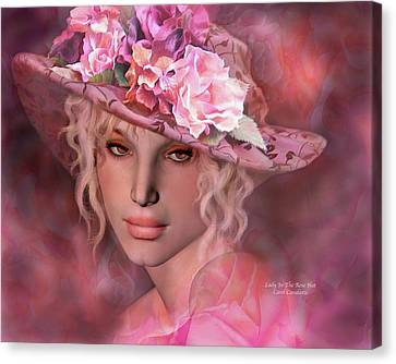 Lady In The Rose Hat Canvas Print by Carol Cavalaris