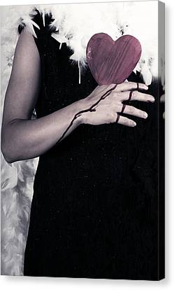 Lady With Blood And Heart Canvas Print by Joana Kruse