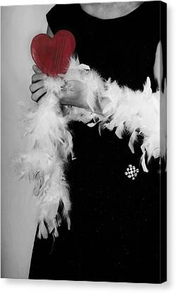 Lady With Heart Canvas Print by Joana Kruse