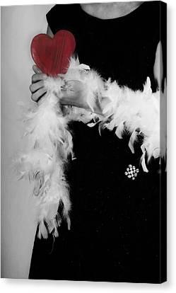 Lady With Heart Canvas Print by Joana Kruse