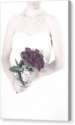 Lady With Roses Canvas Print by Joana Kruse