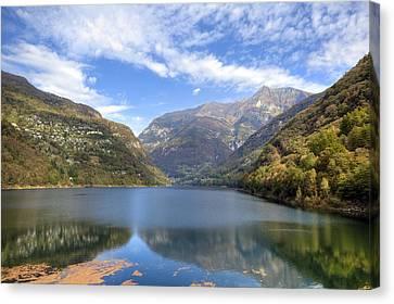 Lago Di Vogorno Canvas Print by Joana Kruse