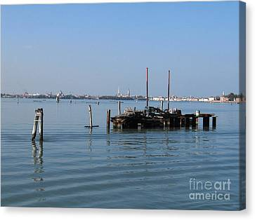 Lagoon. Venice Canvas Print by Bernard Jaubert