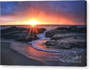 Laguna Beach Sunset Canvas Print by Elena Northroup
