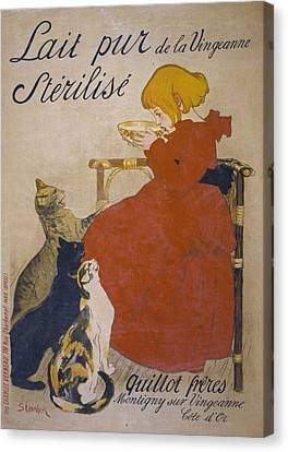 Lait Pur Sterilise De La Vingeanne Canvas Print by Everett