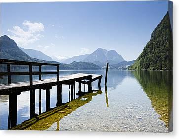 Lake Altausseer See Canvas Print by Jorg Greuel