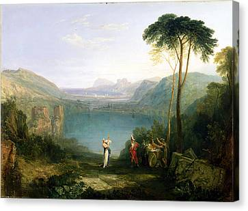 Lake Avernus - Aeneas And The Cumaean Sibyl Canvas Print by Joseph Mallord William Turner