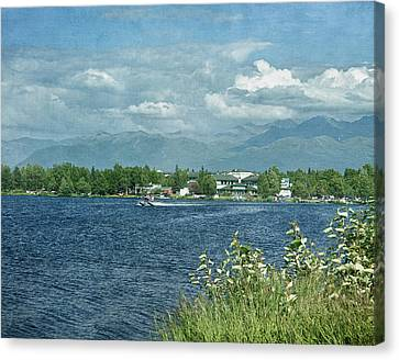 Lake Hood Anchorage Alaska Canvas Print by Kim Hojnacki