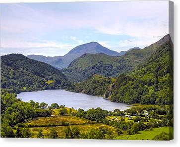 Lake In Snowdonia Canvas Print by Svetlana Sewell