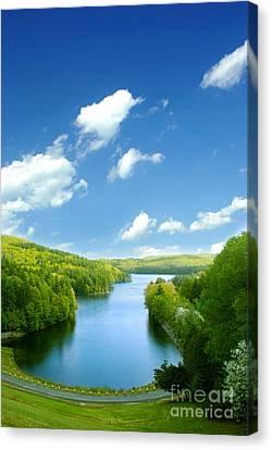 Lake Macdonough Canvas Print by HD Connelly