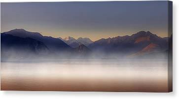 Lake Maggiore And Alps Canvas Print by Joana Kruse