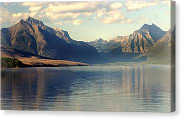 Lake Mcdonald At Sunset Canvas Print by Marty Koch