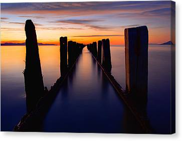 Lake Reflection Canvas Print by Chad Dutson