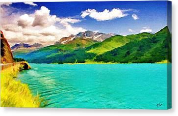 Lake Sils Canvas Print by Jeff Kolker
