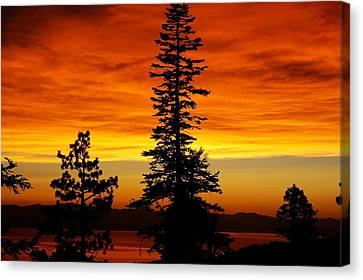 Lake Tahoe Sunset Canvas Print by Bruce Friedman