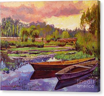 Lakeboats France Canvas Print by David Lloyd Glover