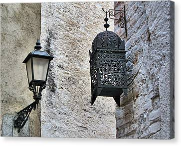 Lamp On Wall Canvas Print by Jordi Sardà López