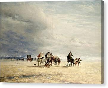 Lancaster Sands Canvas Print by David Cox