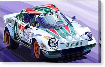 Lancia Stratos Alitalia Rally Catalonya Costa Brava 2008 Canvas Print by Yuriy  Shevchuk